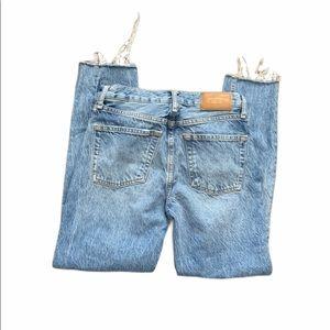 Zara cigarette in sunset blue jeans